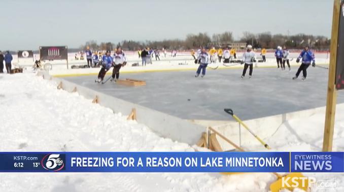 Prep work for charitable Pond Hockey Championship begins on Lake Minnetonka